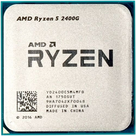 AMD Ryzen 5 2400G Soc-AM4 (3.6GHz - 3.9GHz, 4 Core/8 Threads) Radeon Vega, 65W, Zen+, oem 00000180512