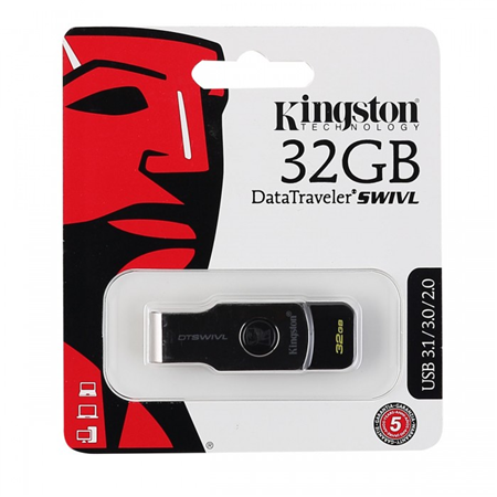 USB 32GB Kingston DataTraveler SWIVL USB 3.1 (Metal/color) 00000191031